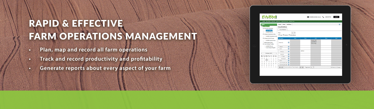 FARM OPERATIONS MANAGEMENT